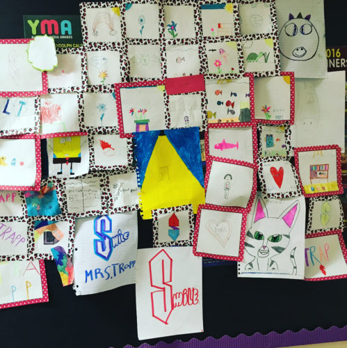 Last week some 4th grade girls delivered this paper quilthellip