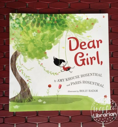 Cover of Dear Girl by Amy Krouse Rosenthal with review by The Trapped Librarian