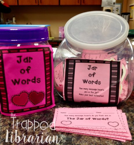 I Love to Read Estimation Jar of Words