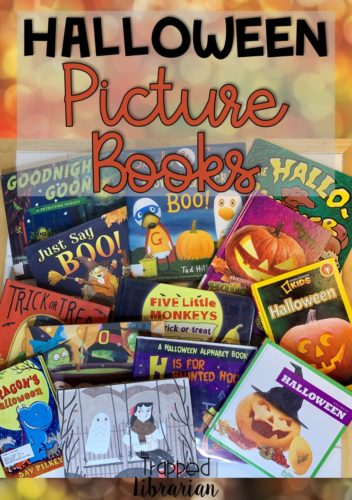 Fun Halloween picture books your kids will love. These are some of the best Halloween picture books for you to use in your Halloween Storytime events in your elementary library or classroom. #thetrappedlibrarian #halloween #picturebooks