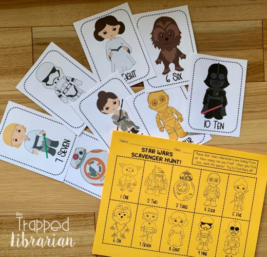 Trapp Star Wars cards and scavenger hunt