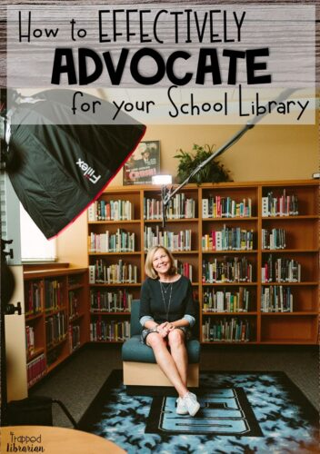Are you a school librarian looking for some library advocacy ideas?  The Trapped Librarian shares strategies for effectively advocating for your school library program.  Get motivated to promote your school library!  #thetrappedlibrarian #schoollibrary