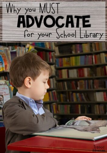 Are you a school librarian looking for some library advocacy ideas?  This blog post from the Trapped Librarian explains why school library advocacy is important.  Get motivated to promote your school library!  #thetrappedlibrarian #schoollibrary