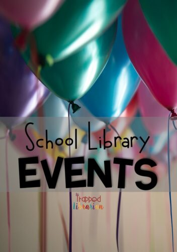 School library events can bring excitement and engagement to your school community!  These 5 reasons to plan school library events will get you started on making your library the center of your school.  Click to get some school library event ideas today! #thetrappedlibrarian #schoollibrary