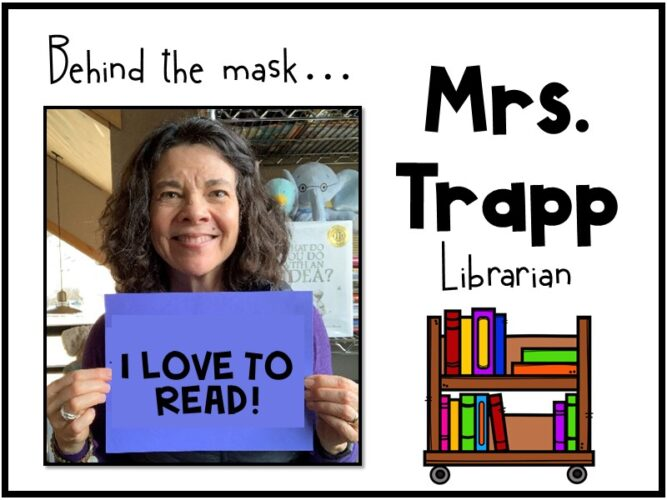 Back to School Library Ideas Photo Badge Behind the Mask