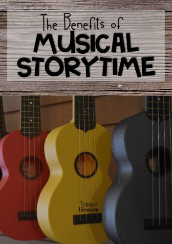 Bring music and movement into your school library story time sessions with Musical Storytime. Read about the benefits of using music and movement with your elementary students and start planning engaging lessons for your school library today! #thetrappedlibrarian #schoollibrary