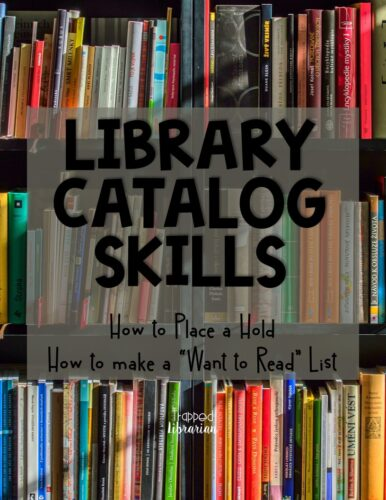 "Your elementary school library lessons should include important library catalog skills like how to place holds, how to create a ""Want to Read"" list, and how to check library account information. Empower your students to enjoy a lifetime of reading by teaching them these important library catalog skills! #thetrappedlibrarian #schoollibrary"