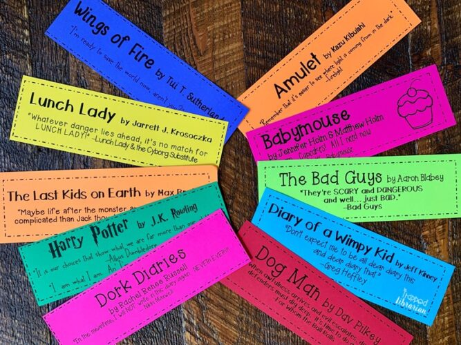 Kids' Series Bookmarks Quotes
