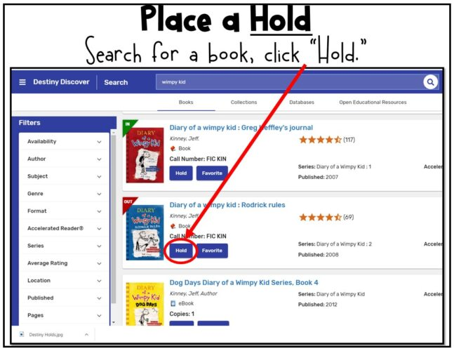 Library Catalog Skills Place a Hold