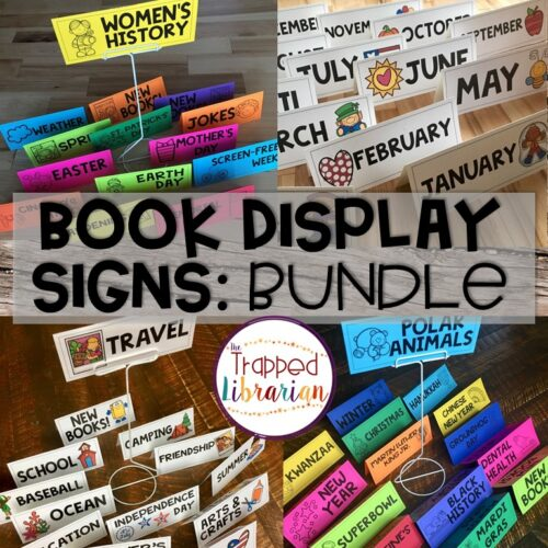 School Library Book Displays Signs