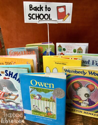 Back to School Library Book Display