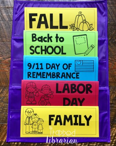 School Library Book Display Topics for Fall