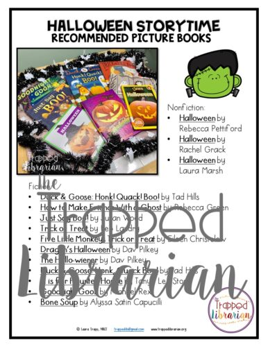 Trapp Halloween Picture Book List