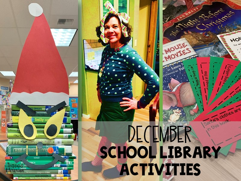 December School Library Activities The Trapped Librarian