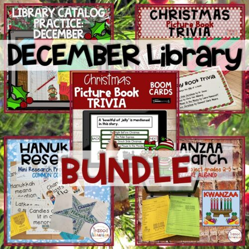 December School Library Activities Bundle