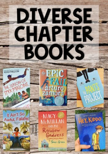 If you are looking for diverse chapter books to add to your collection for middle grade readers, I've got six recommendations for you. Give your students the experience of mirrors, windows, and sliding glass doors. #thetrappedlibrarian #diversebooksforkids