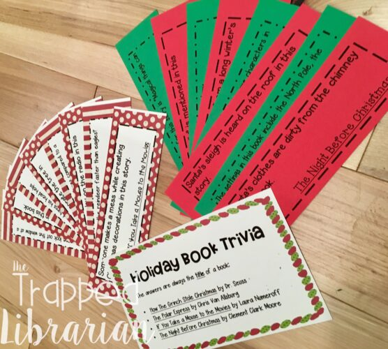 Library Game Trivia Cards