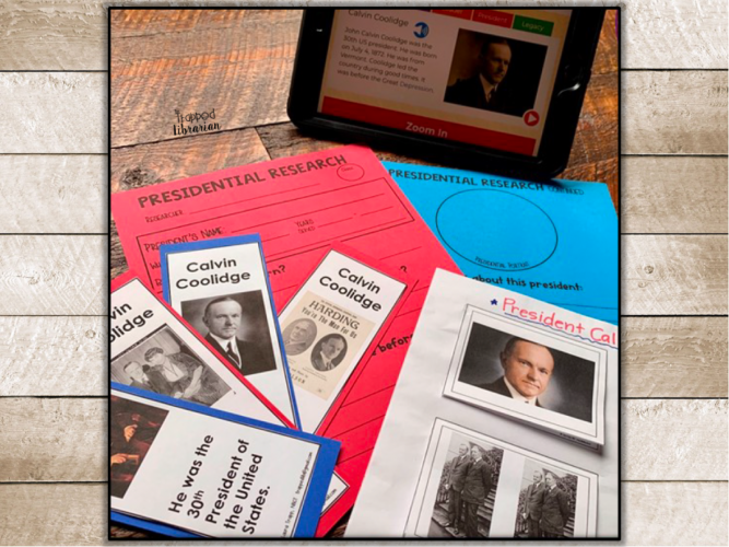Research Skills for 2nd and 3rd Grade Presidents