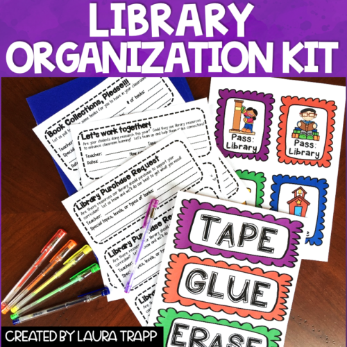Library Organization Kit The Trapped Librarian