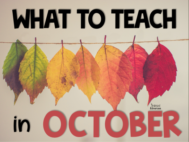 October Library Lessons